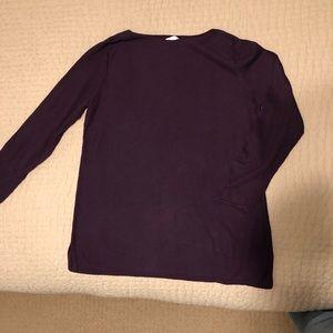 J Jill Dark Purple Tunic Sweater